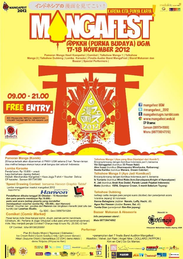 MangaFest 2012 di UGMYogyakarta