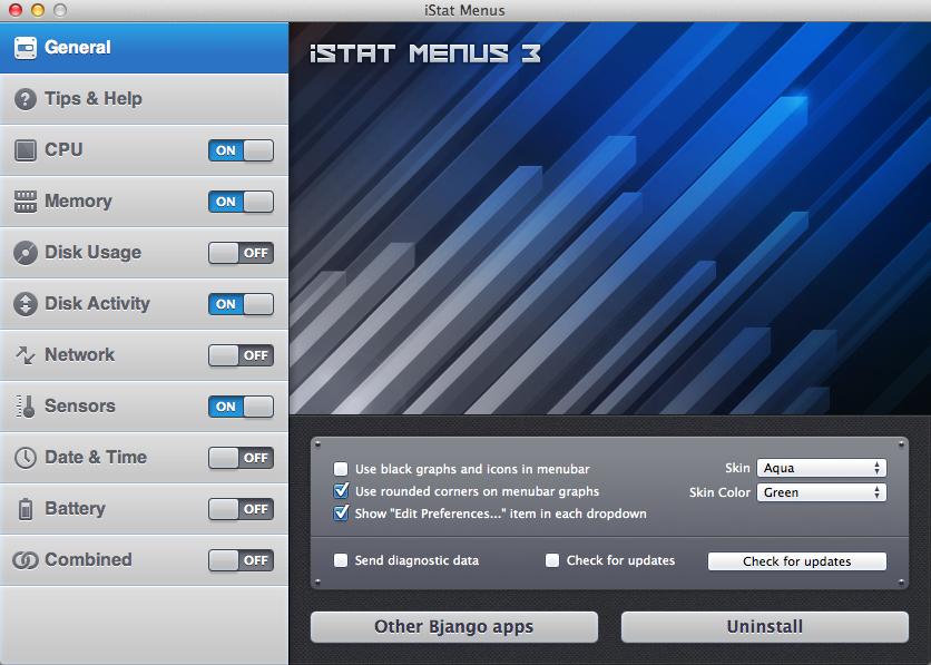 Menampilkan Status CPU, Memory, Harddisk dan lain-lain di MacOS