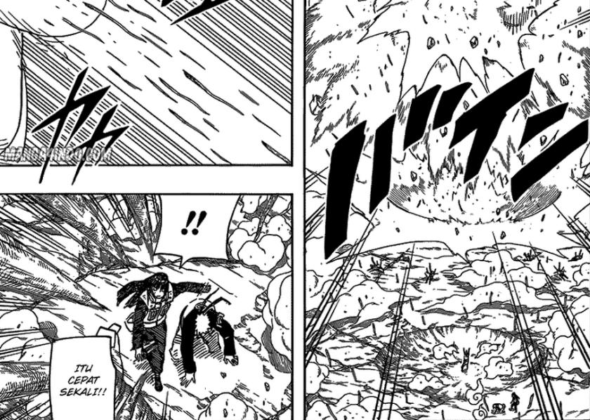 Serangan Juubi menuju ke Naruto, Hinata bermaksud melindungi. tapi, apa yang terjadi... eng ing eng...