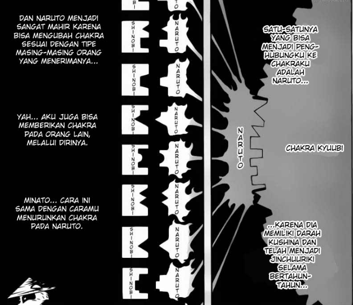 Penjelasan aliran cakra Kyuubi.