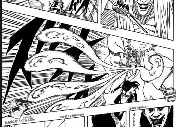 Segel gagal, Orochimari bisa mengeluarkan tangan, sehingga bisa menggunakan Edo Tensei