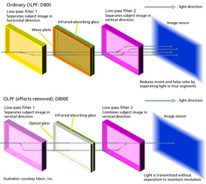 OLPF pada kamera Nikon D800 dan perbedaan dengan D800E terbaru