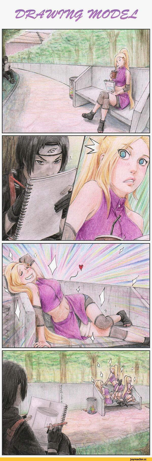 Kisah cinta Ino dan Sai. hahaha