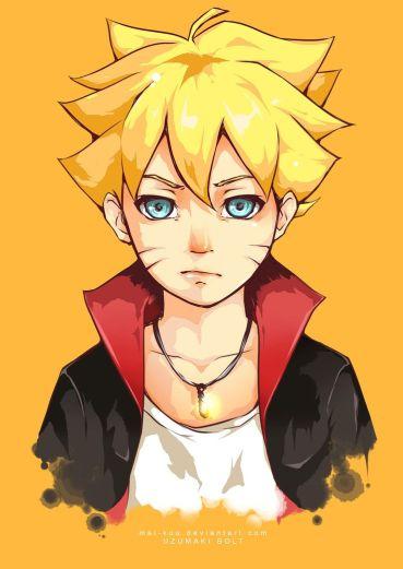 Boruto anak pertama dari Naruto dan Hinata...