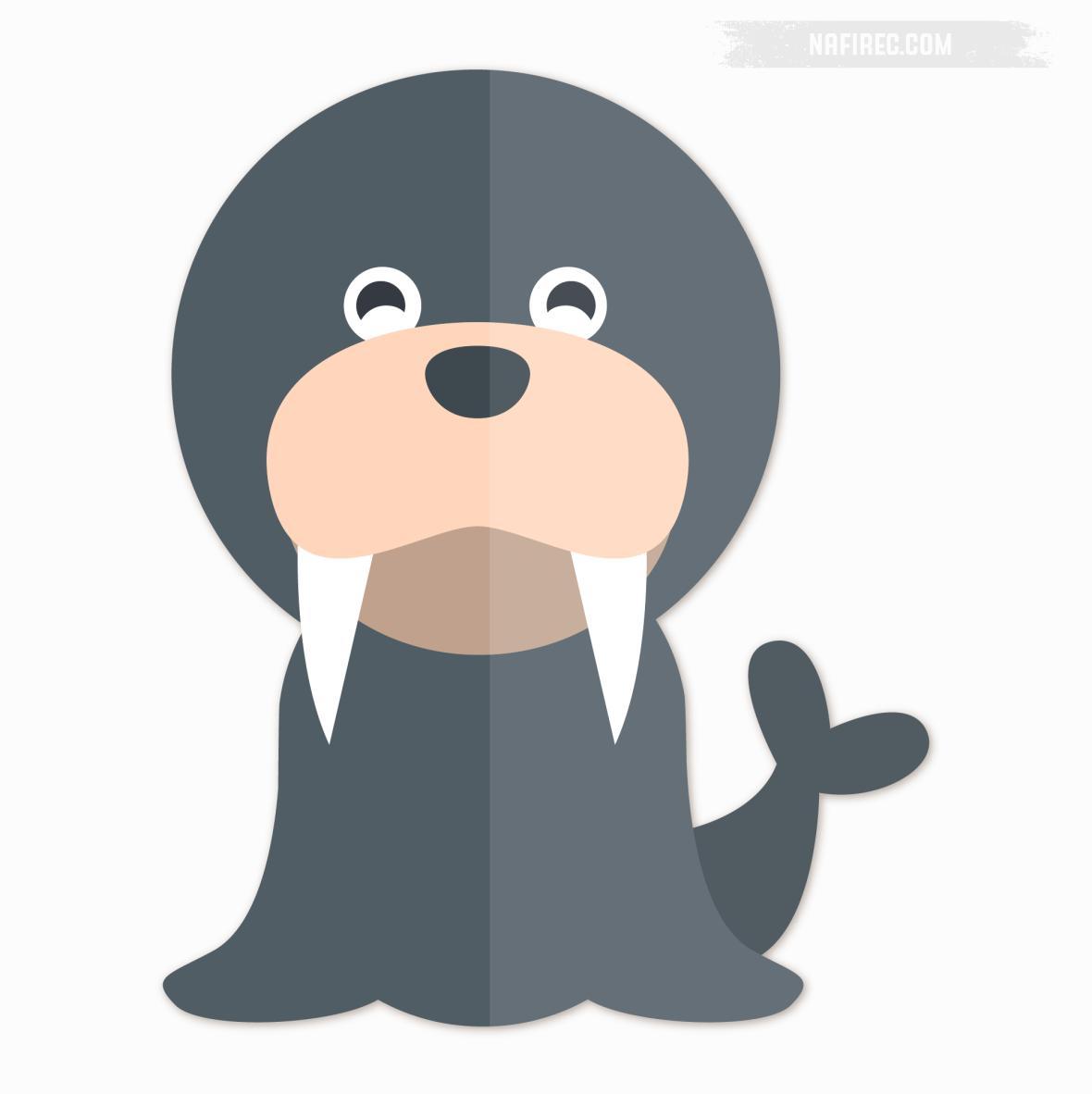 Ilustasi Hewan Anjing Laut Mewarnai Anak Nafi Record